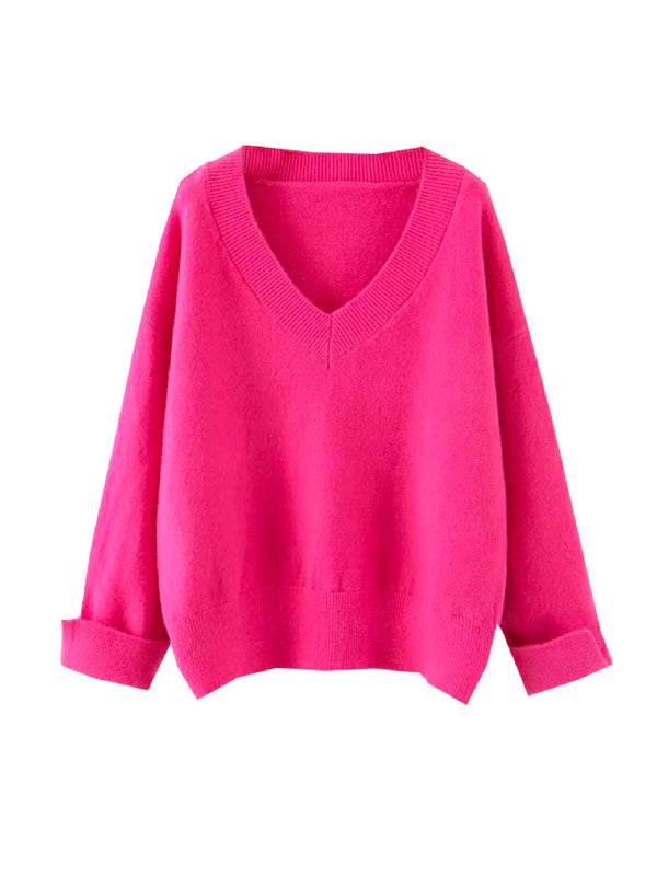 'Tata' Soft V-Neck Sweater (3 Colors)