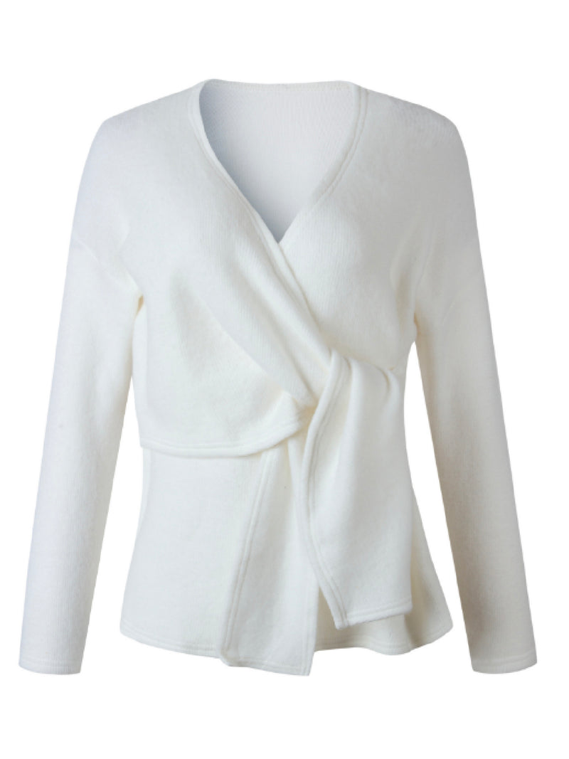 'Jane' Tied Front Knitted Wrap Top (3 Colors)