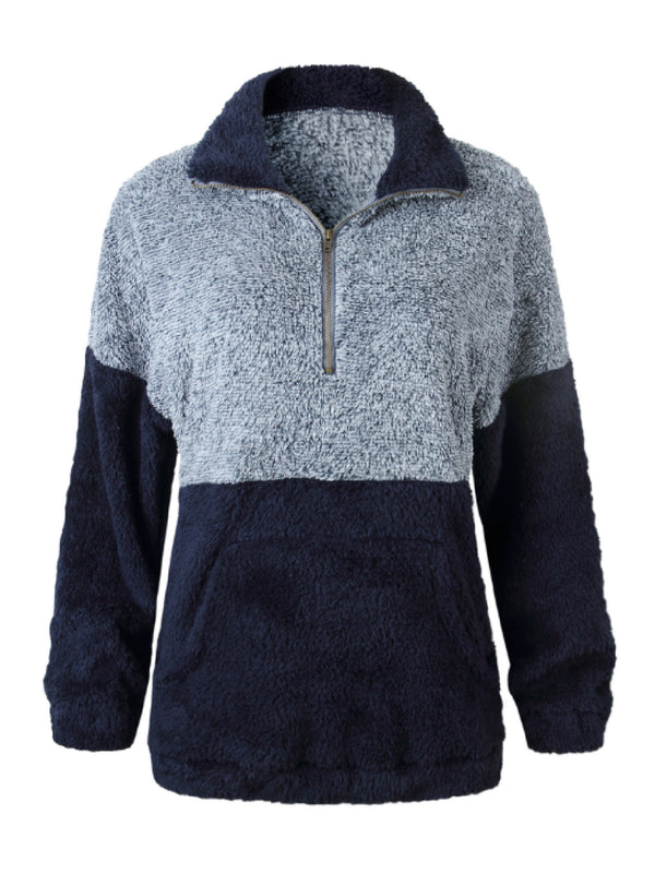 'Roco' Bicolor Fleece Pullover (4 Colors)