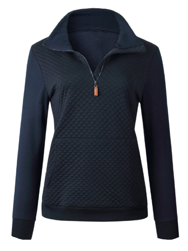 'Ali' Quilted Half-Zip Pullover (3 Colors)