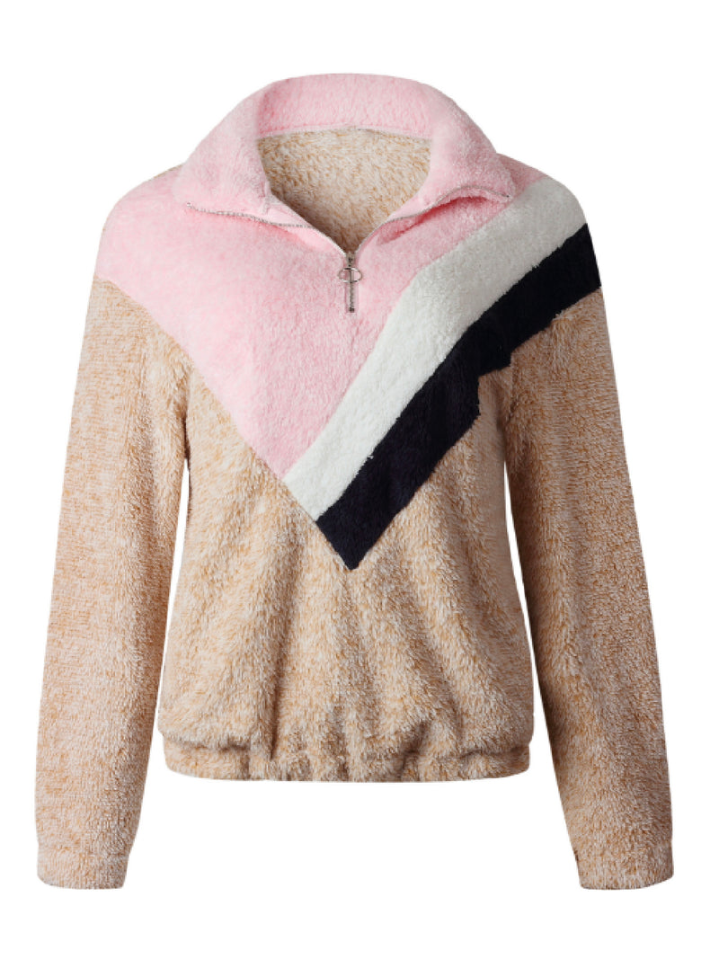 'Eunica' Multi-Colored Fleece Pullover