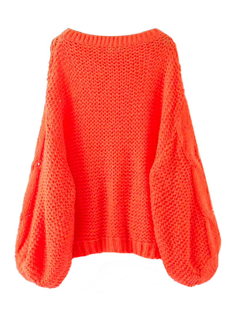 'Prima' Loose Knit Slouchy Sweater (3 Colors)