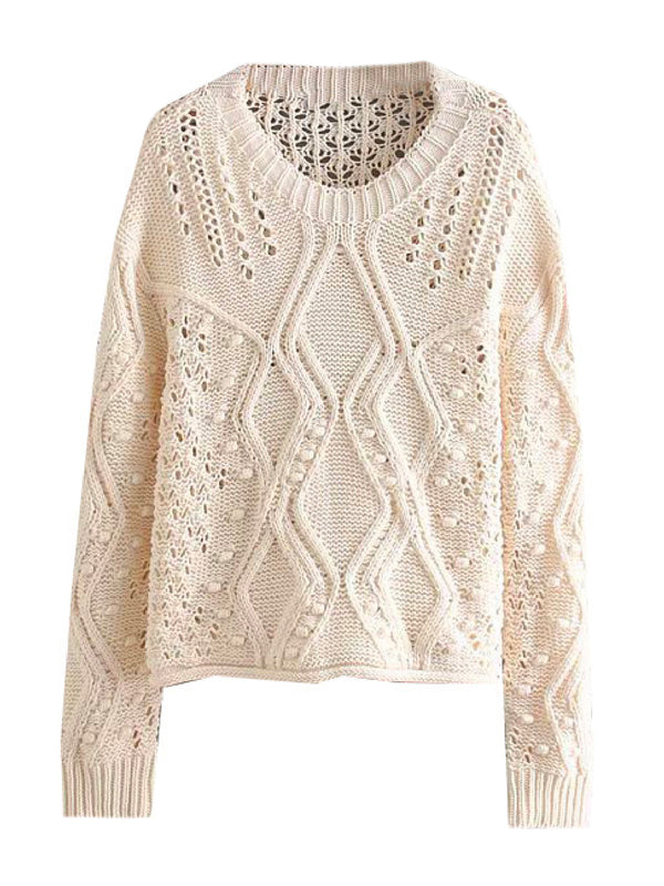 'Adava' Openwork Knitted Sweater