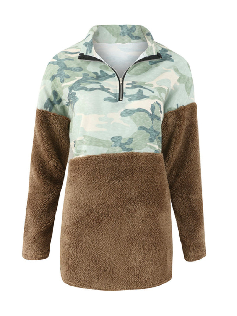 'Lupis' Camouflage Fleece Pullover (3 Colors)