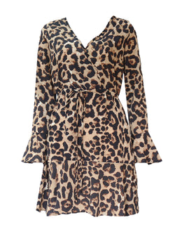 'Lewis' Leopard Print Wrap Dress (3 Colors)