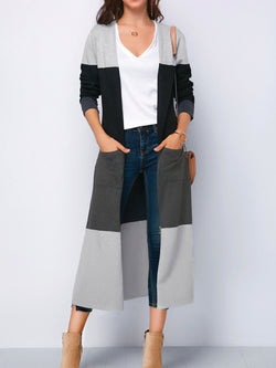'Koko' Color Block Long Cardigan (3 Colors)