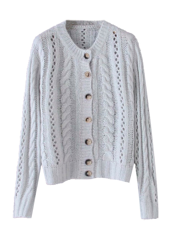 'Alana' Openwork Knitted Cardigan (3 Colors)