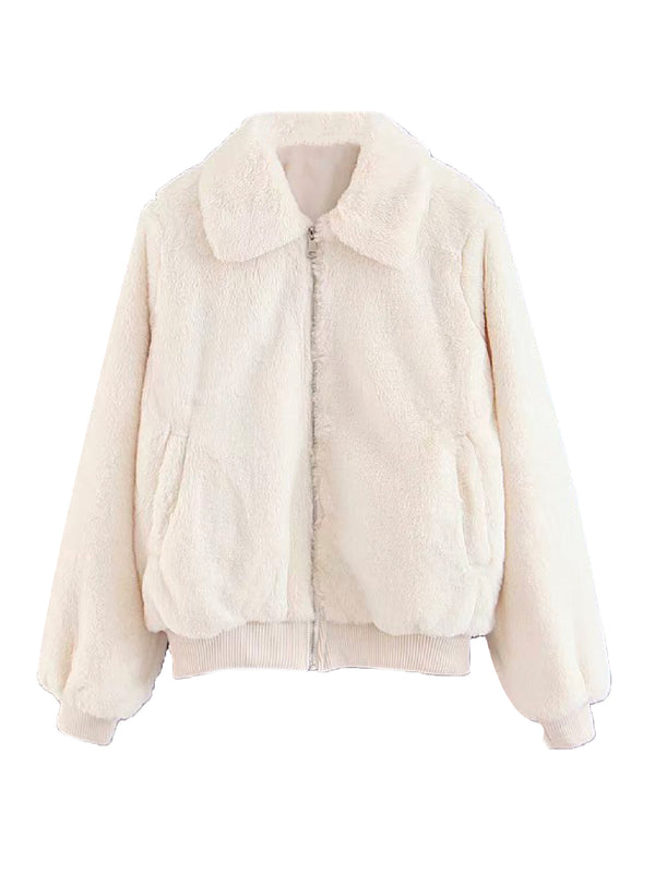 'Vicky' Soft Faux Fur Jacket