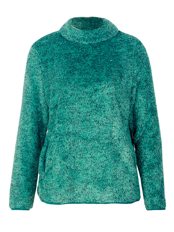 'Rita' High Neck Fleece Pullover (3 Colors)