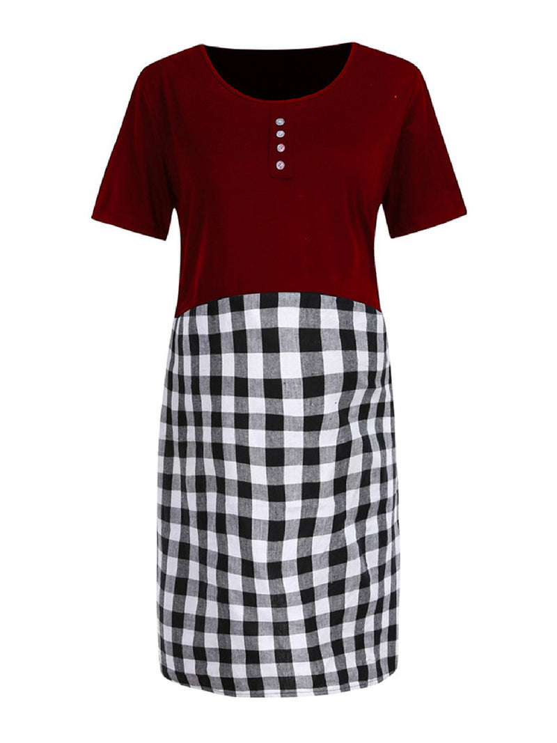 'Shaddie' Gingham Maternity Dress (4 Colors)