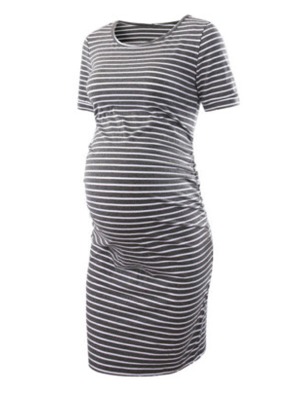 'Cecillia' Maternity T-Shirt Jersey Dress (15 Colors)