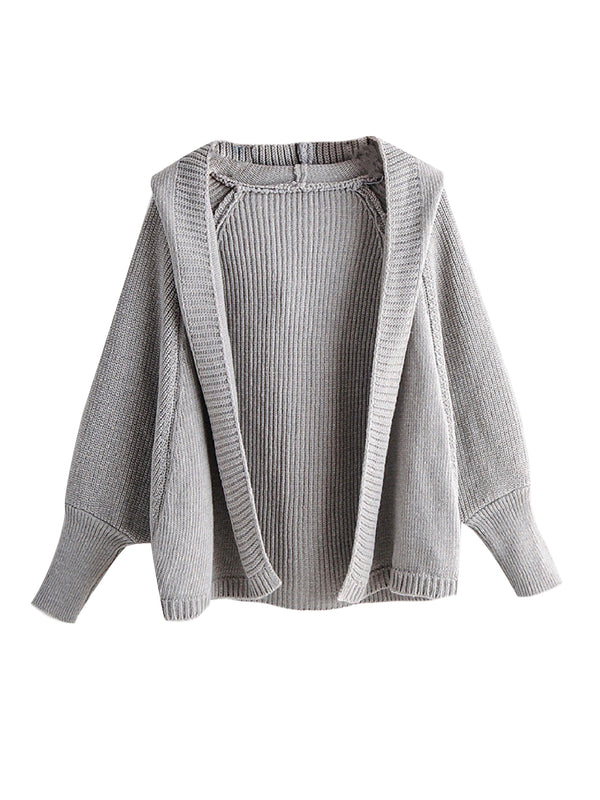 'Yadira' Hooded Knit Cardigan (3 Colors)