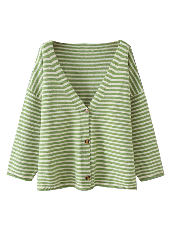 'Kata' Striped Knitted Cardigan (3 Colors)