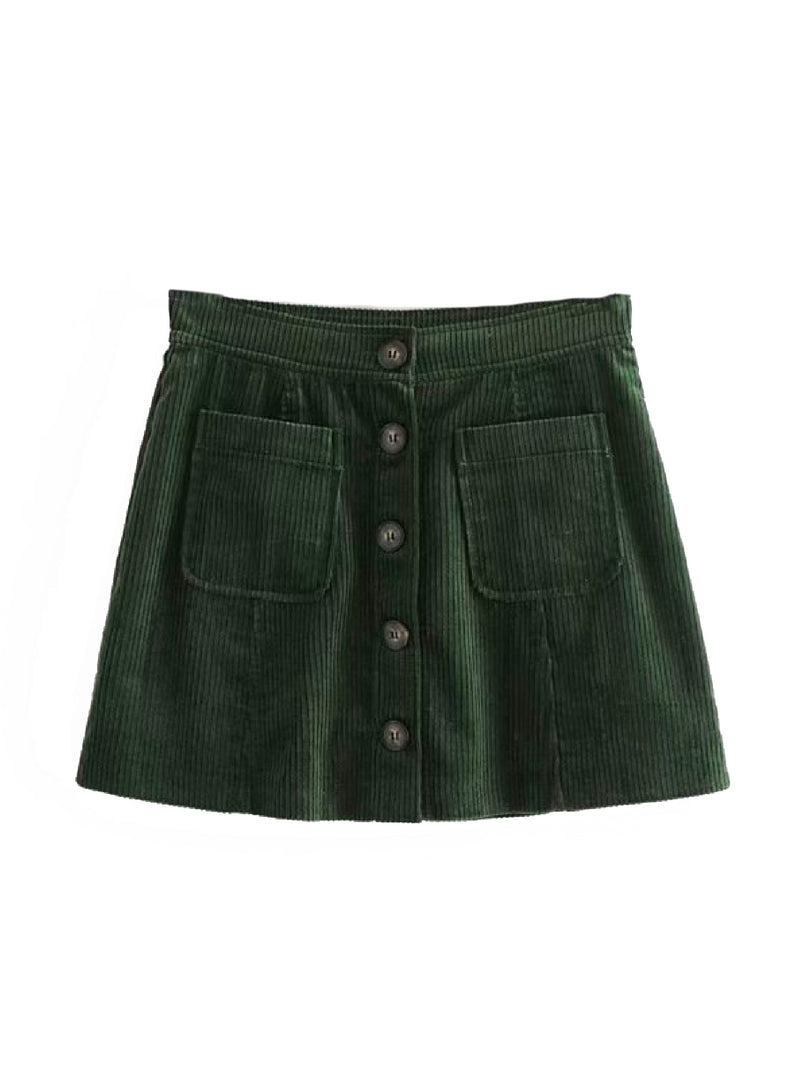 'Jay' Corduroy Mini Skirt (3 Colors)