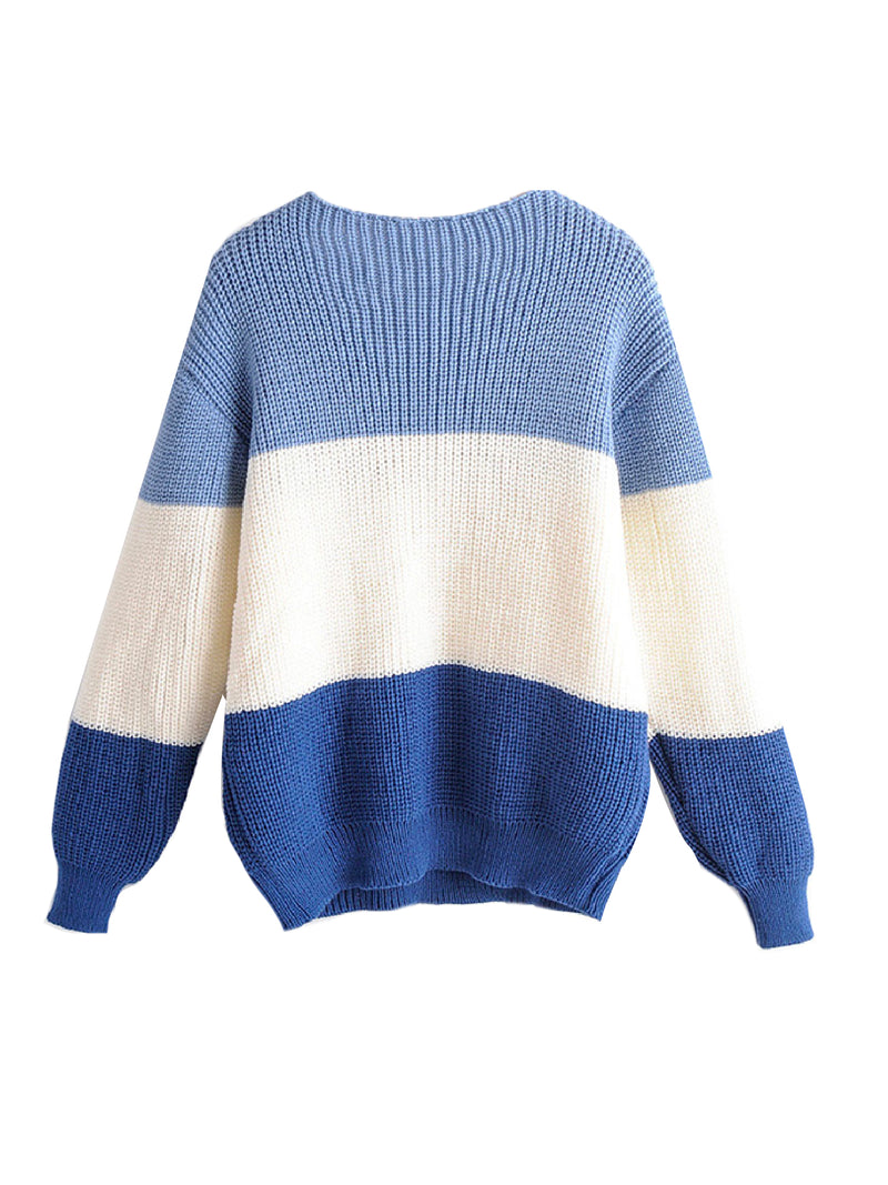 'Erikson' Color Block Knitted Sweater (3 Colors)