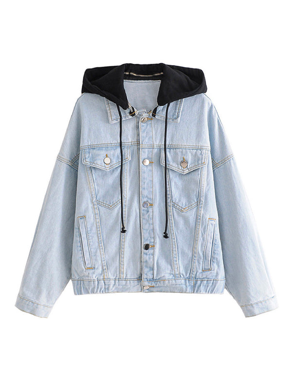 'Shay' Detachable Hood Denim Jacket