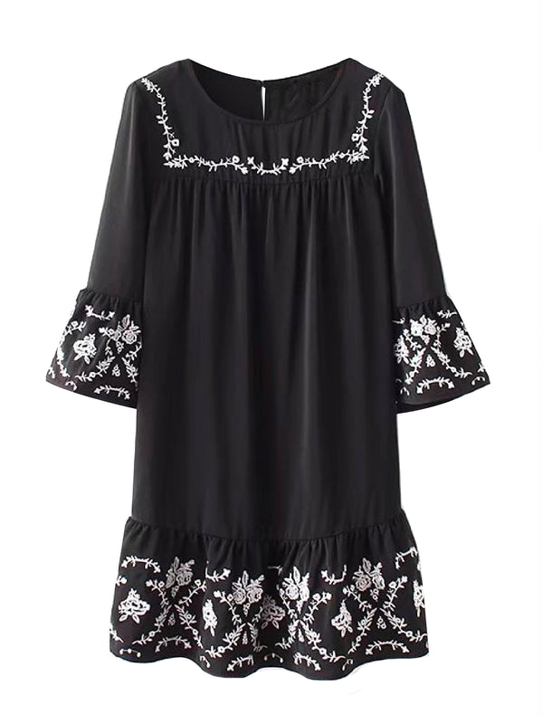'Mimi' Embroidered Mini Dress