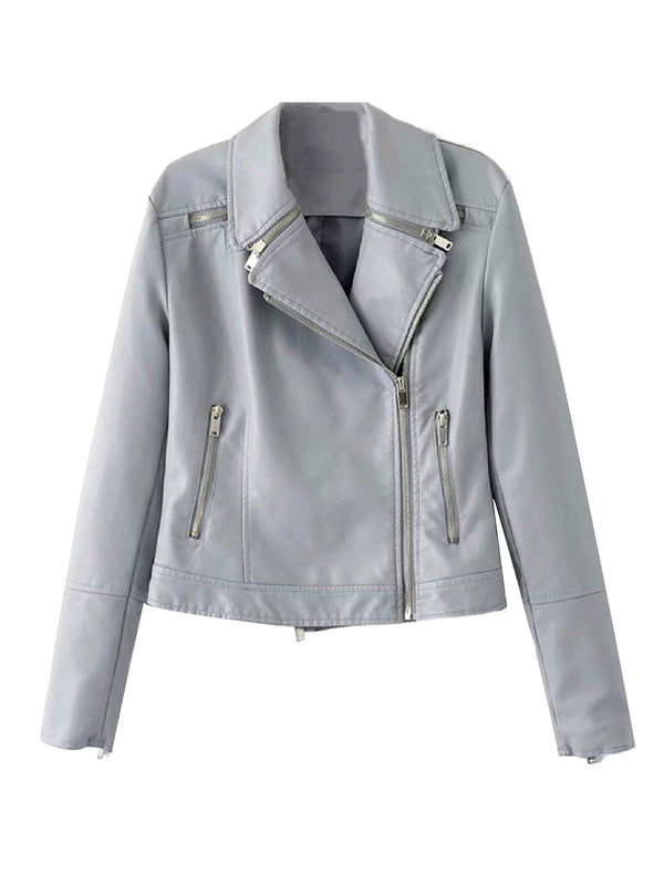 'Manda' Vegan Leather Biker Jacket (3 Colors)