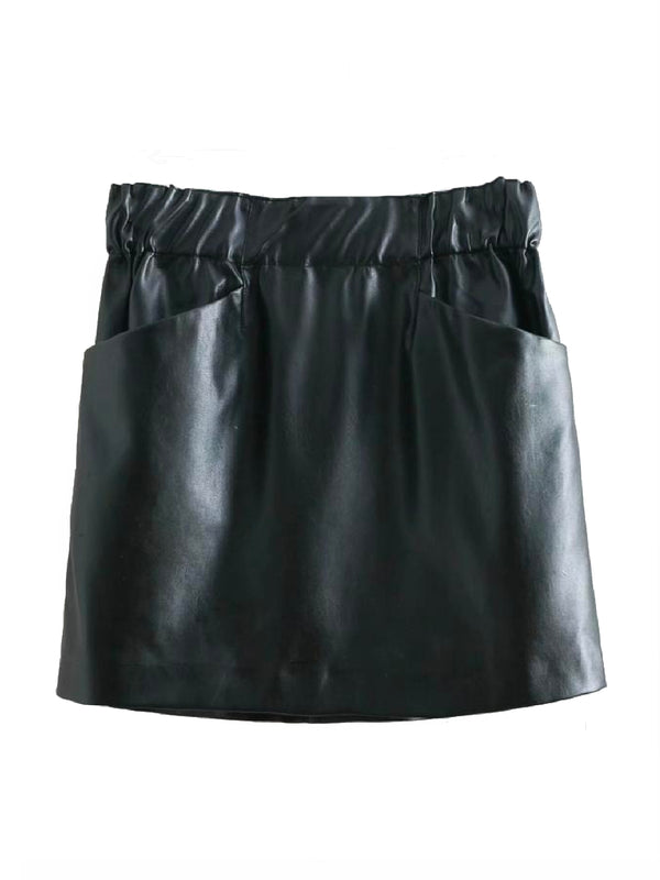'Kayee' Faux Leather Mini Skirt (4 Colors)