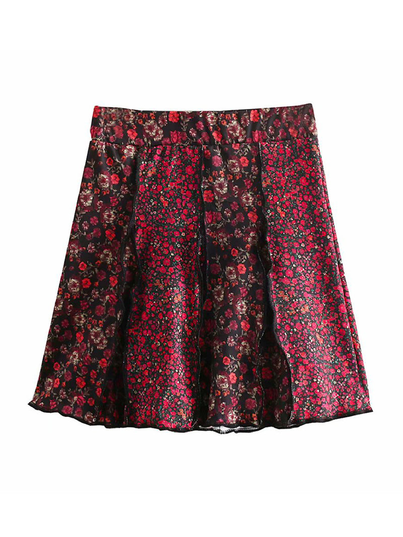 'Mirama' Floral Flared Skirt