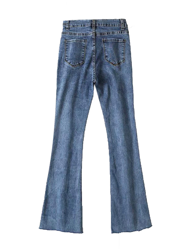 'Makyo' Buckled Boot Cut Jeans