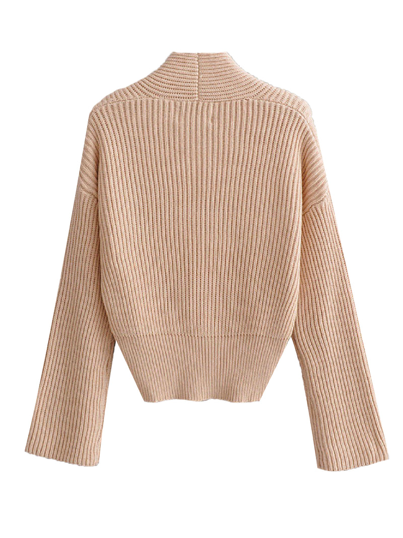 'Jerina' Ribbed Knit Wrap Top (2 Colors)