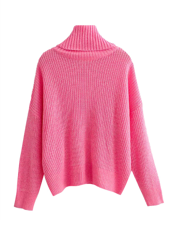'Bobo' Turtleneck Ribbed Sweater