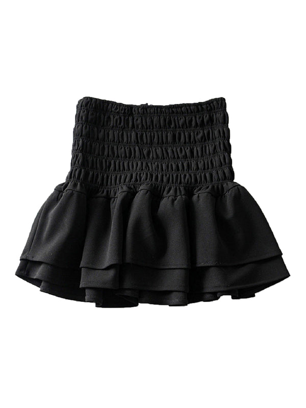'Codi' Ruched Flare Mini Skirt