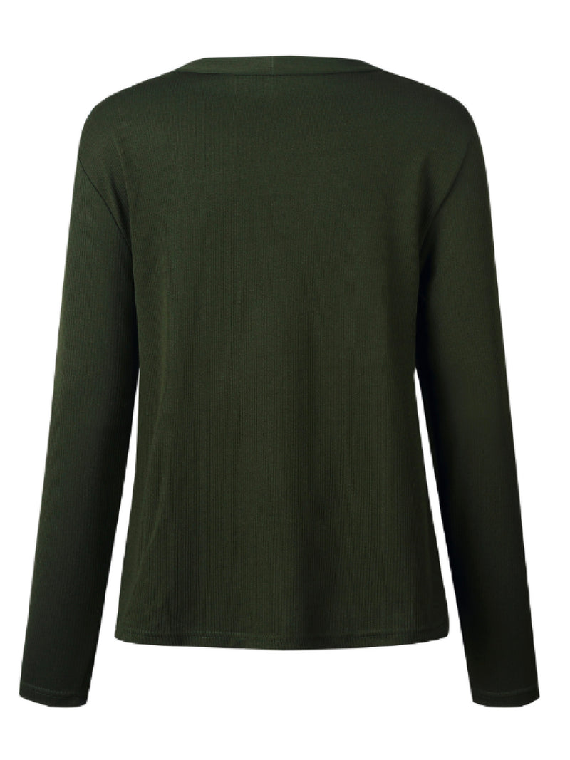 'Virginia' Button Front Ribbed Sweater (3 Colors)