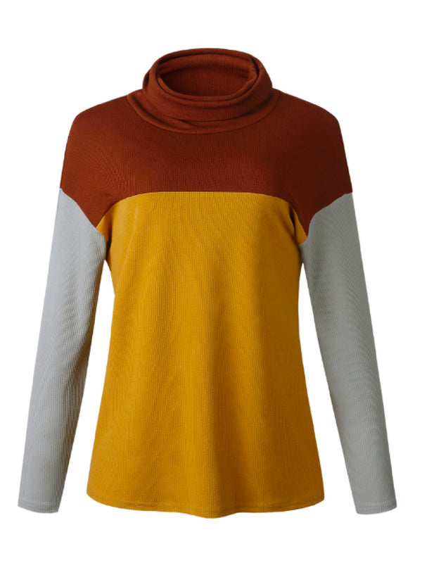 'Shanna' Color Block Funnel Neck Sweater (3 Colors)