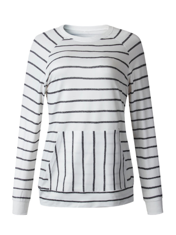 'Lynn' Striped Crewneck Sweater