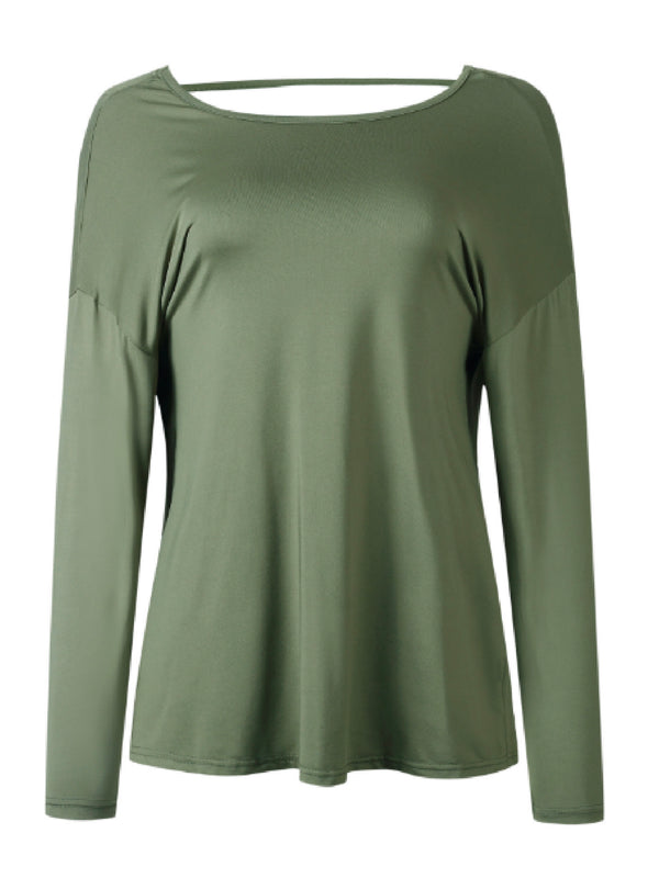 'Ruger' Draped Open Back Sweatshirt (4 Colors)