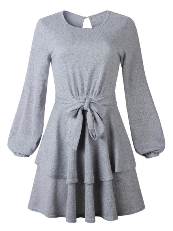 'Moon' Tied Waist Knit Dress (3 Colors)