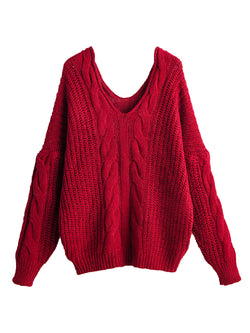 'Dylen' Cable Knit V-Neck Sweater (4 Colors)