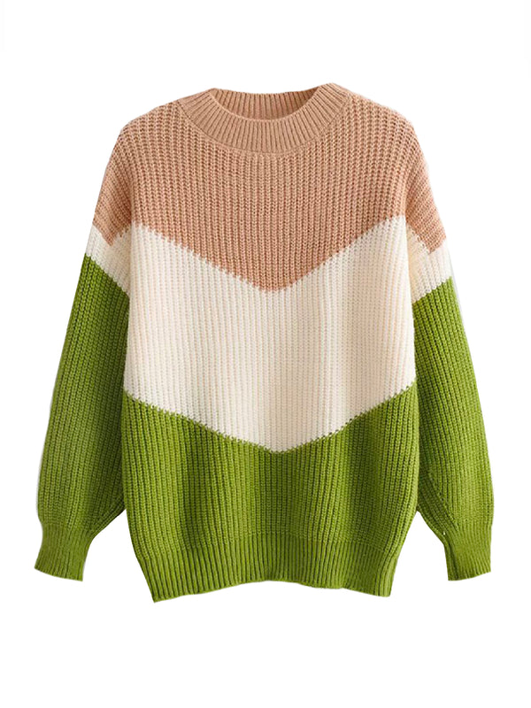 'Haye' Tri-Colored Sweater (3 Colors)