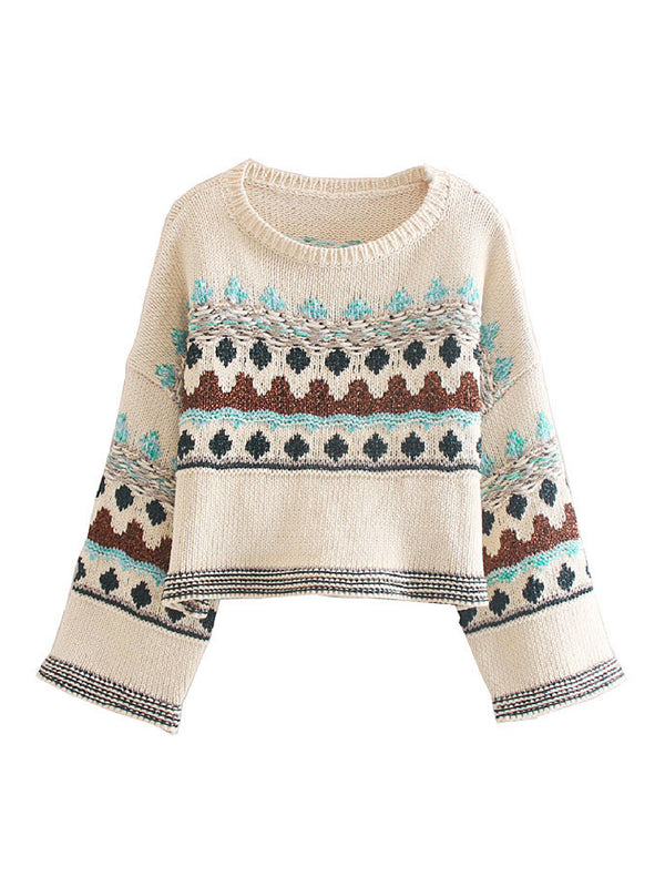 'Wioleta' Metallic Thread Sweater
