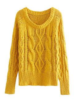 'Shanie' Twisted Knit Sweater
