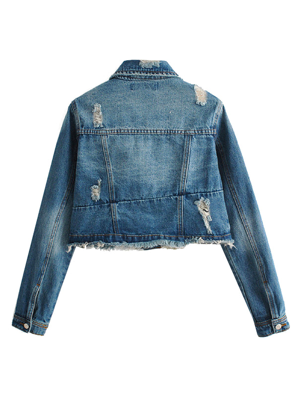 'Lydiana' Distressed Denim Jacket