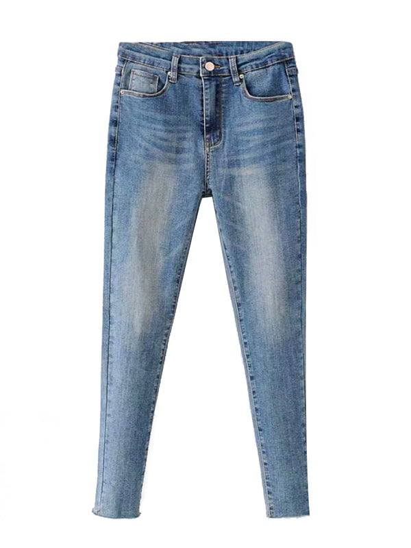 'Kareyme' Medium Washed Skinny Jeans