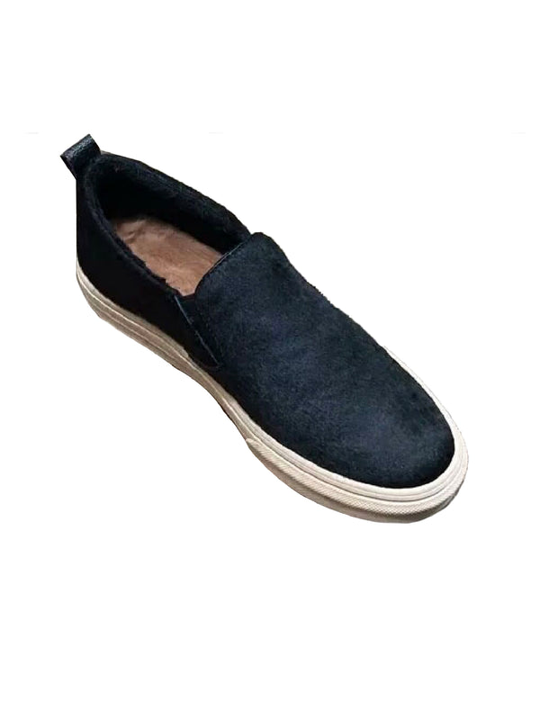 'Gillian' Pony Hair Slip-On Sneakers (2 Colors)