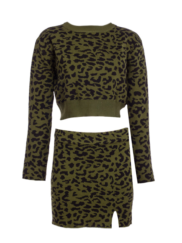 'Rica' Leopard Print Two Piece Set (3 Colors)