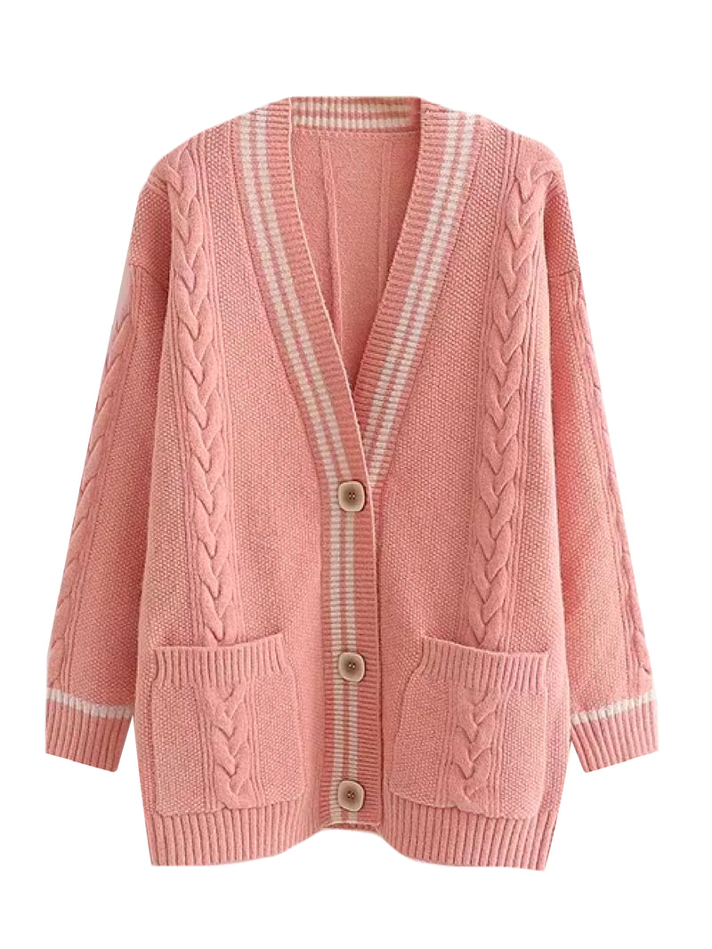 'Onora' Button Front Long Cardigan (3 Colors)