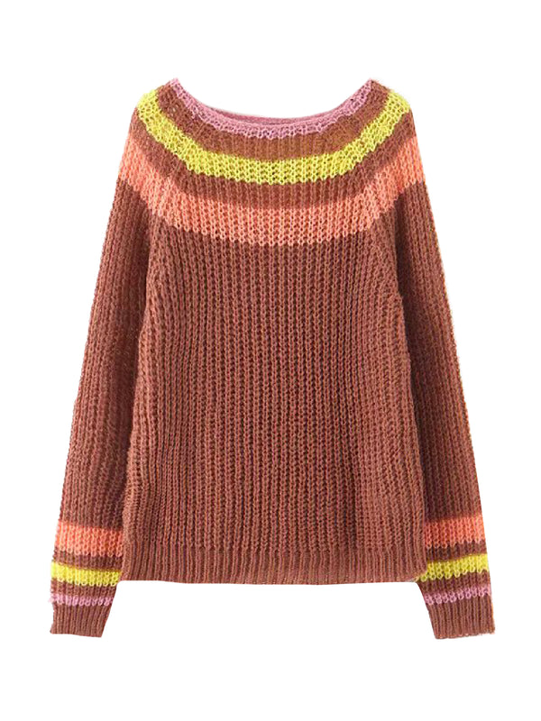 'Hunia' Striped Mohair Sweater (3 Colors)