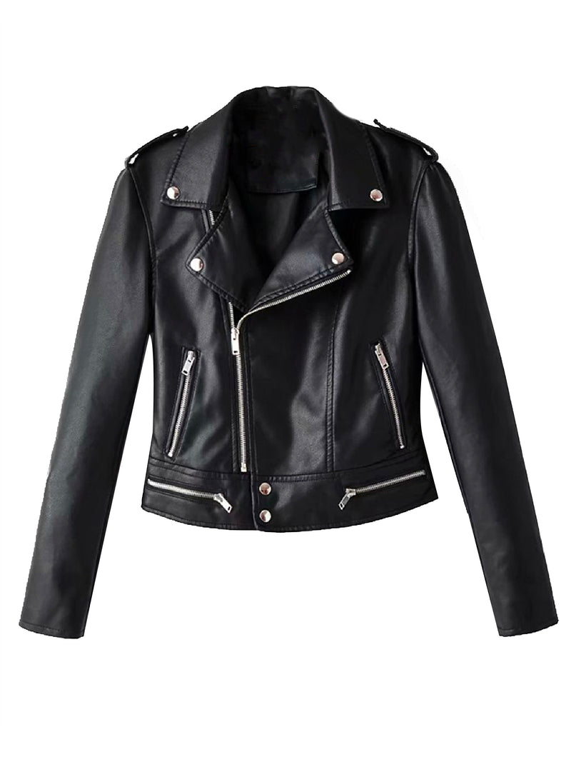 'Tanya' Vegan Leather Biker Jacket (3 Colors)