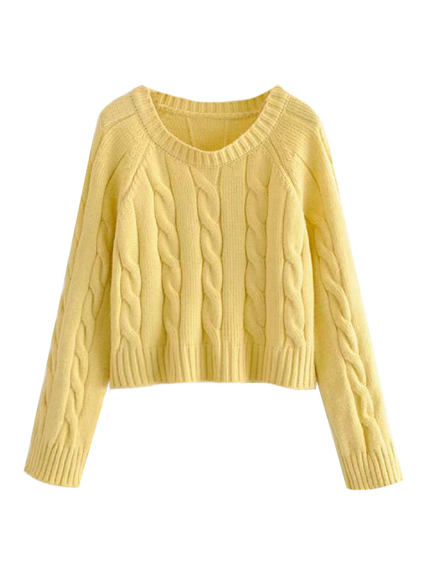 'Glenda' Cable Knit Sweater (2 Colors)
