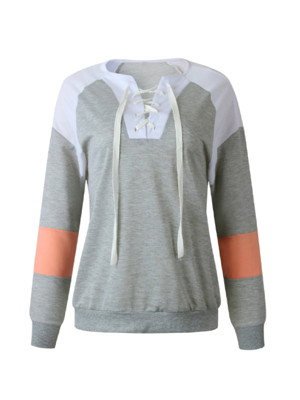'Datya' Laced Up Front Sweatshirt