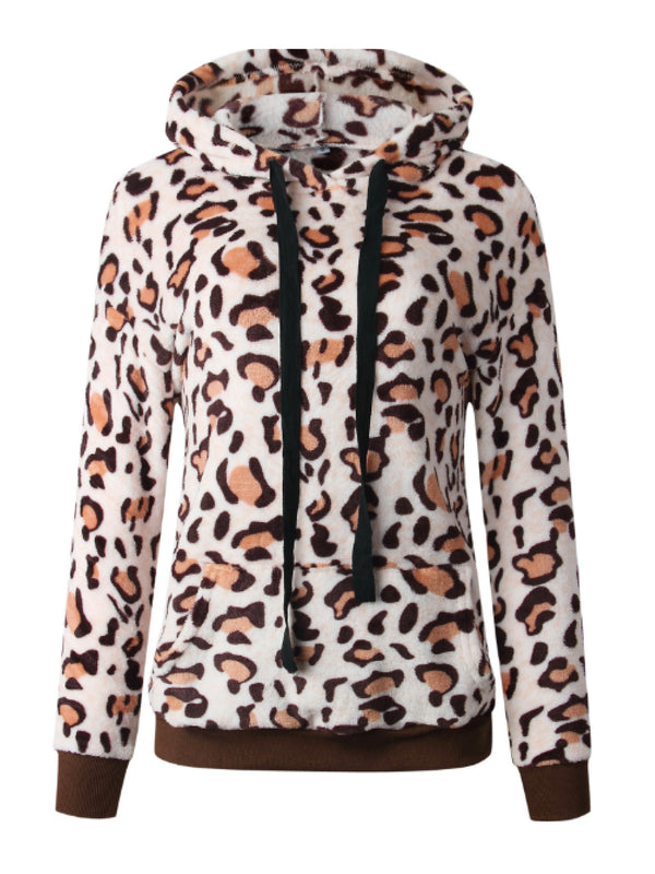 'Carrik' Leopard Print Fleece Hoodie (3 Colors)