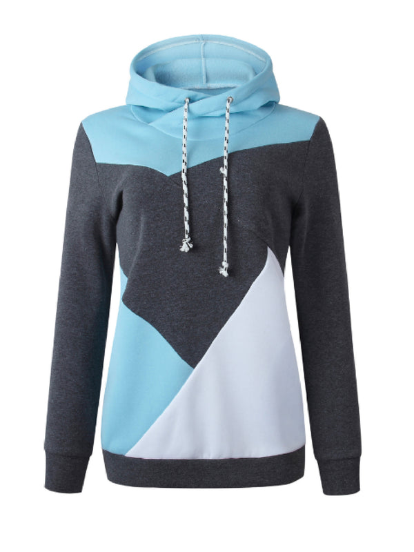 'Juan' Tricolor Funnel Neck Hoodie (2 Colors)