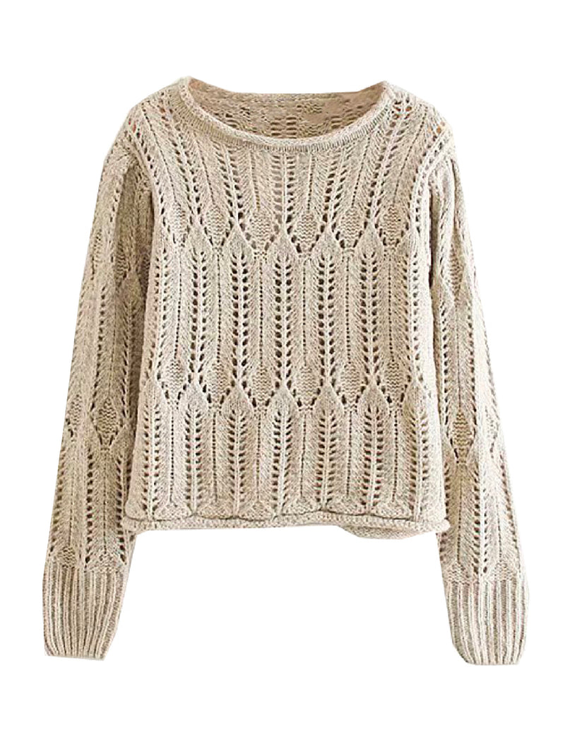'Clark' Openwork Knitted Sweater