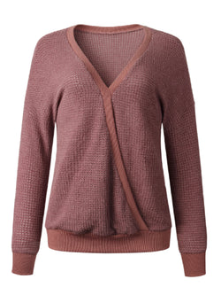 'Fumnaya' Waffle Knit Wrap Sweater (3 Colors)